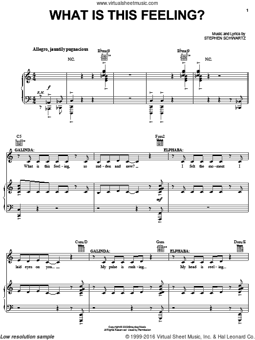 What Is This Feeling? (COMPLETE) sheet music for voice, piano or guitar by Stephen Schwartz
