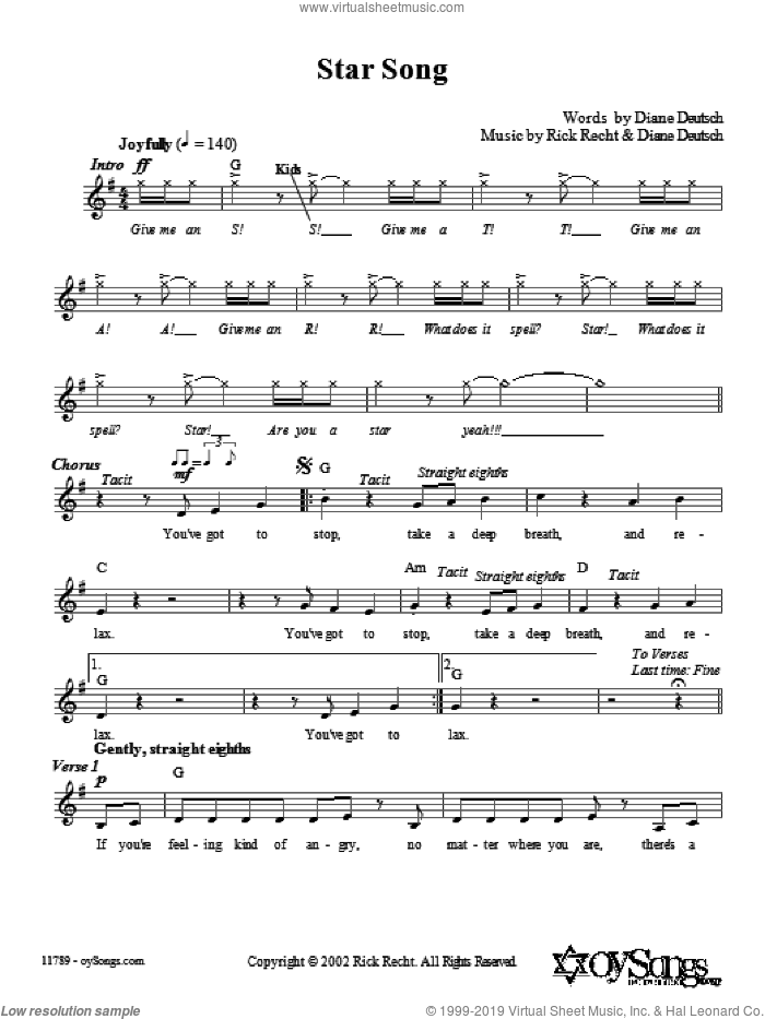 Star Song sheet music for voice and other instruments (fake book) by Rick Recht