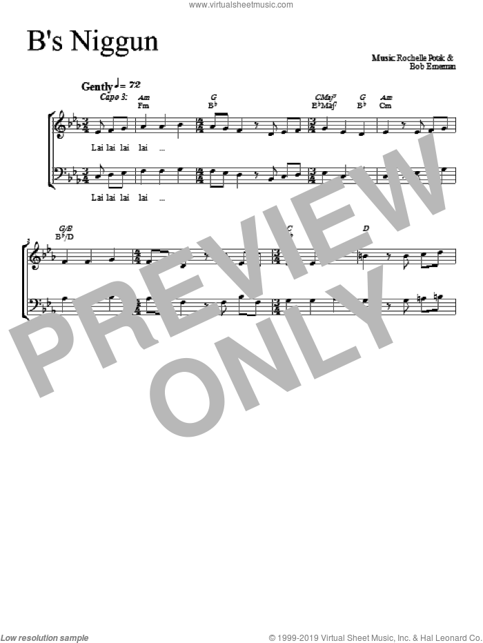 B's Nign sheet music for choir (duets) by Shir Harmony. Score Image Preview.