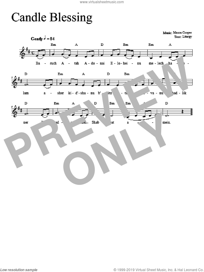 Candle Blessing sheet music for voice and other instruments (fake book) by Dan Nichols