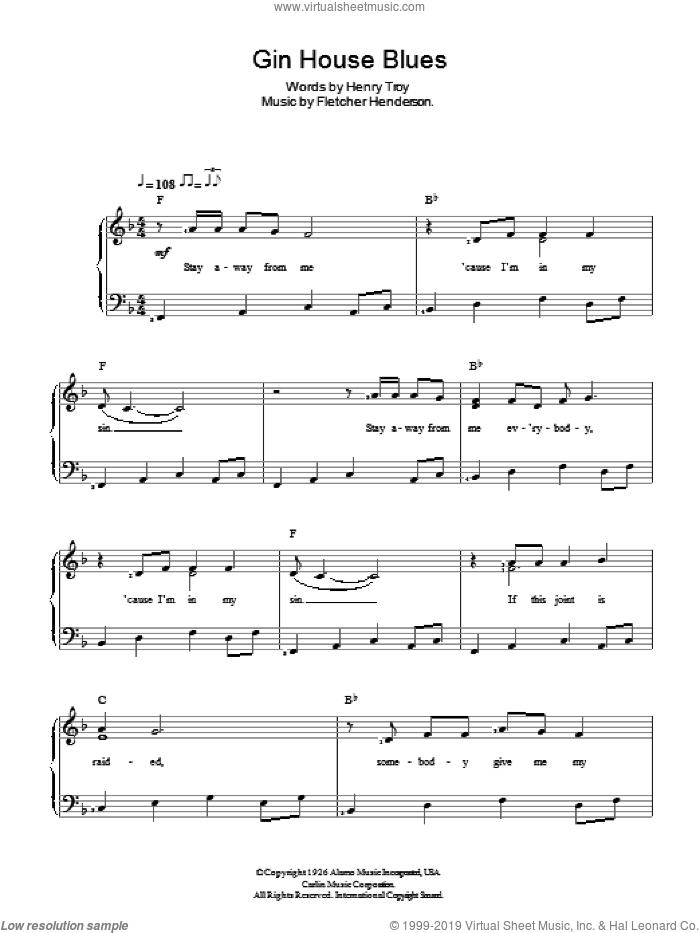 Simone - Gin House Blues sheet music for piano solo [PDF]