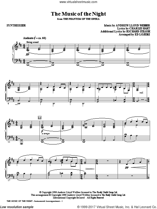 The Music Of The Night (from The Phantom Of The Opera) (COMPLETE) sheet music for orchestra by Andrew Lloyd Webber