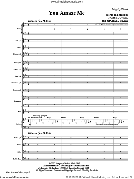 You Amaze Me (COMPLETE) sheet music for orchestra by Michael Neale and Richard Kingsmore, intermediate. Score Image Preview.