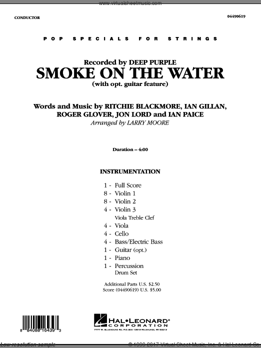Smoke on the Water (COMPLETE) sheet music for orchestra by Larry Moore