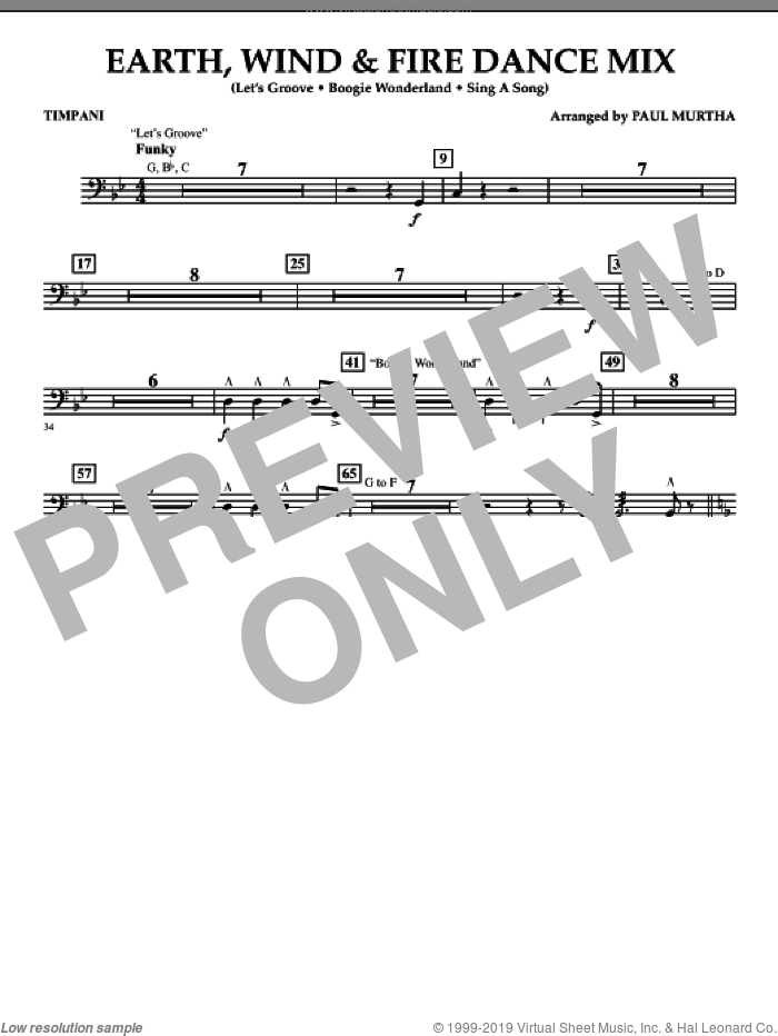 Fire Dance Mix sheet music for concert band (timpani) by Paul Murtha