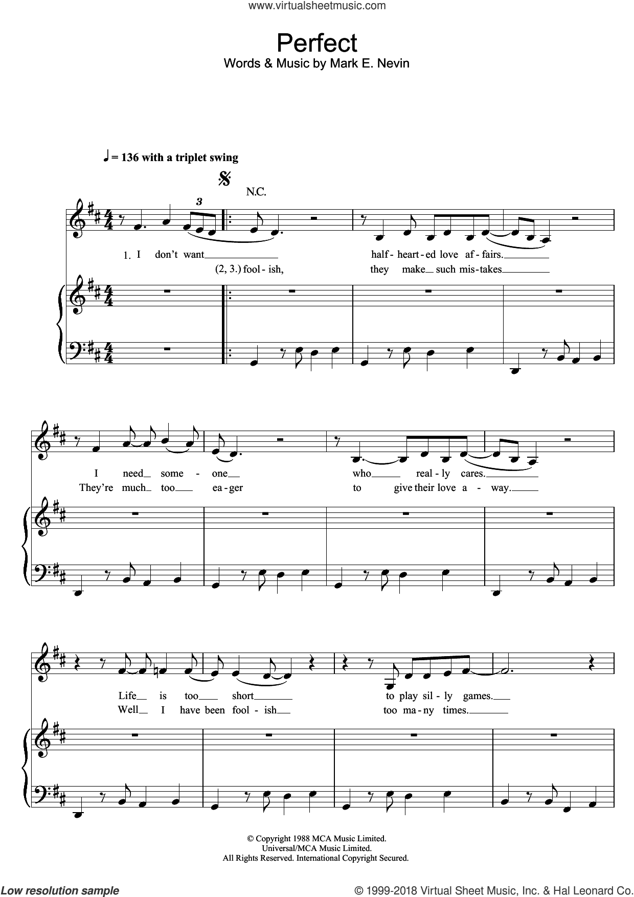 Perfect sheet music for voice, piano or guitar by Fairground Attraction and Mark E. Nevin, intermediate skill level