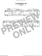 Cover icon of Londonderry Air sheet music for piano solo, intermediate skill level