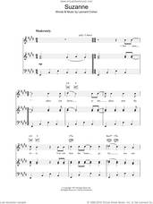 Cover icon of Suzanne sheet music for voice, piano or guitar by Leonard Cohen, intermediate skill level