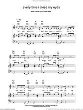 Cover icon of Every Time I Close My Eyes sheet music for voice, piano or guitar by Backstreet Boys, intermediate skill level