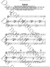 Cover icon of Naked sheet music for voice, piano or guitar by Bon Jovi, intermediate skill level