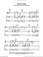 Cover icon of Highest High sheet music for voice, piano or guitar by Brand New Heavies, intermediate skill level
