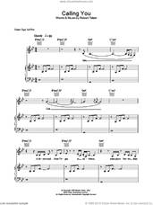Cover icon of Calling You sheet music for voice, piano or guitar by Holly Cole, intermediate skill level