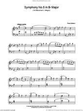 Cover icon of Symphony No.5 in Bb Major - 1st Movement: Allegro sheet music for piano solo by Franz Schubert, classical score, intermediate skill level
