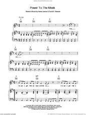 Cover icon of Power To The Meek sheet music for voice, piano or guitar by Eurythmics, intermediate skill level