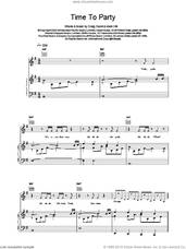 Cover icon of Time To Party sheet music for voice, piano or guitar by Craig David, intermediate skill level