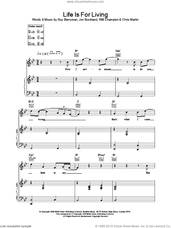 Cover icon of Life Is For Living sheet music for voice, piano or guitar by Coldplay, intermediate skill level