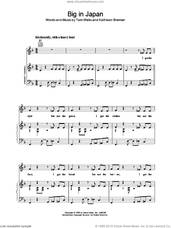 Cover icon of Big in Japan sheet music for voice, piano or guitar by Tom Waits, intermediate skill level