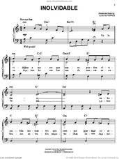 Cover icon of Inolvidable sheet music for piano solo by Luis Miguel and Julio Gutierrez, wedding score, easy skill level