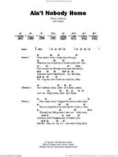 Cover icon of Ain't Nobody Home sheet music for guitar (chords) by B.B. King and Jerry Ragovoy, intermediate skill level