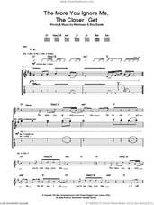 Cover icon of The More You Ignore Me, The Closer I Get sheet music for guitar (tablature) by Steven Morrissey and Boz Boorer, intermediate skill level