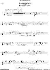 Cover icon of Summertime sheet music for flute solo by George Gershwin, intermediate skill level