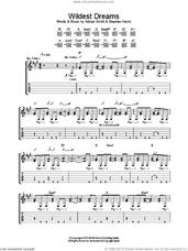 Cover icon of Wildest Dreams sheet music for guitar (tablature) by Iron Maiden, intermediate skill level