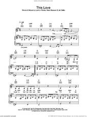 Cover icon of This Love sheet music for voice, piano or guitar by LeAnn Rimes, intermediate skill level