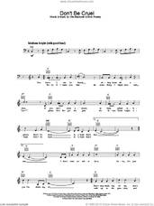 Cover icon of Don't Be Cruel (To A Heart That's True) sheet music for voice and other instruments (fake book) by Elvis Presley and Otis Blackwell, intermediate skill level
