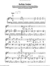 Cover icon of Buffalo Soldier sheet music for voice, piano or guitar by Bob Marley, intermediate skill level