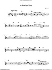 Cover icon of A Furtive Tear sheet music for voice and other instruments (fake book) by Gaetano Donizetti, classical score, intermediate skill level