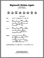 Cover icon of Bigmouth Strikes Again sheet music for guitar (chords) by The Smiths, Johnny Marr and Steven Morrissey, intermediate skill level