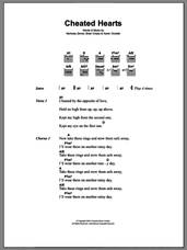 Cover icon of Cheated Hearts sheet music for guitar (chords) by Yeah Yeah Yeahs, Brian Chase, Karen Orzolek and Nick Zinner, intermediate skill level