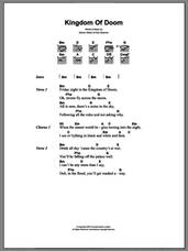 Cover icon of Kingdom Of Doom sheet music for guitar (chords) by The Good The Bad & The Queen, Damon Albarn and Paul Simonon, intermediate skill level
