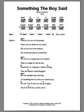 Cover icon of Something The Boy Said sheet music for guitar (chords) by Sting, intermediate skill level