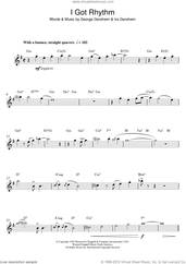 Cover icon of I Got Rhythm sheet music for alto saxophone solo by George Gershwin, intermediate skill level