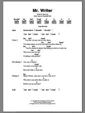 Cover icon of Mr. Writer sheet music for guitar (chords) by Stereophonics, Kelly Jones and Marshall Bird, intermediate skill level