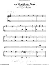 Cover icon of Now Winter Comes Slowly sheet music for voice, piano or guitar by Sting, Robert Sadin, Henry Purcell and Thomas Betterton, intermediate skill level