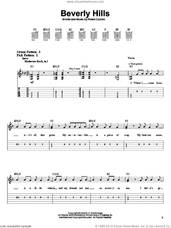 Cover icon of Beverly Hills sheet music for guitar solo (easy tablature) by Weezer and Rivers Cuomo, easy guitar (easy tablature)
