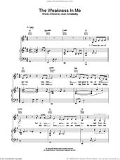 Cover icon of The Weakness In Me sheet music for voice, piano or guitar by Joan Armatrading, intermediate skill level