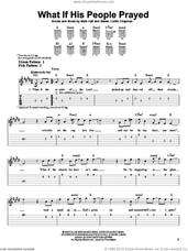 Cover icon of What If His People Prayed sheet music for guitar solo (easy tablature) by Casting Crowns, Mark Hall and Steven Curtis Chapman, easy guitar (easy tablature)
