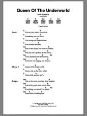 Cover icon of Queen Of The Underworld sheet music for guitar (chords) by Jesse Malin, intermediate skill level