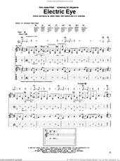 Cover icon of Electric Eye sheet music for guitar (tablature) by Judas Priest, Glenn Tipton, K.K. Downing and Rob Halford, intermediate skill level