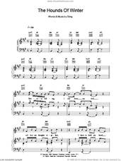 Cover icon of The Hounds Of Winter sheet music for voice, piano or guitar by Sting, intermediate skill level