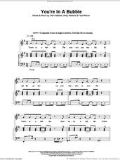 Cover icon of You're In A Bubble sheet music for voice, piano or guitar by WILSON, Geri Halliwell, Andy Watkins and HALLIWELL, intermediate skill level