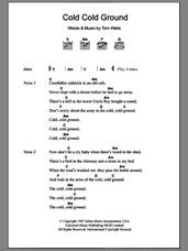 Cover icon of Cold Cold Ground sheet music for guitar (chords) by Tom Waits, intermediate skill level