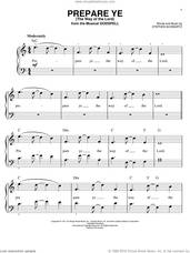 Cover icon of Prepare Ye (The Way Of The Lord) sheet music for piano solo by Stephen Schwartz and Godspell (Musical), easy skill level