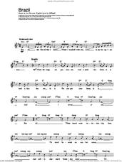 Cover icon of Brazil sheet music for voice and other instruments (fake book) by The Ritchie Family, Ary Barroso and S.K. Russell, intermediate skill level