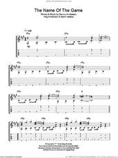 Cover icon of The Name Of The Game sheet music for guitar solo (easy tablature) by ABBA, Benny Andersson, Bjorn Ulvaeus and Stig Anderson, easy guitar (easy tablature)