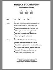 Cover icon of Hang On St. Christopher sheet music for guitar (chords) by Tom Waits, intermediate skill level