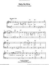 Cover icon of Baby Be Mine sheet music for piano solo by Michael Jackson and Rod Temperton, easy skill level